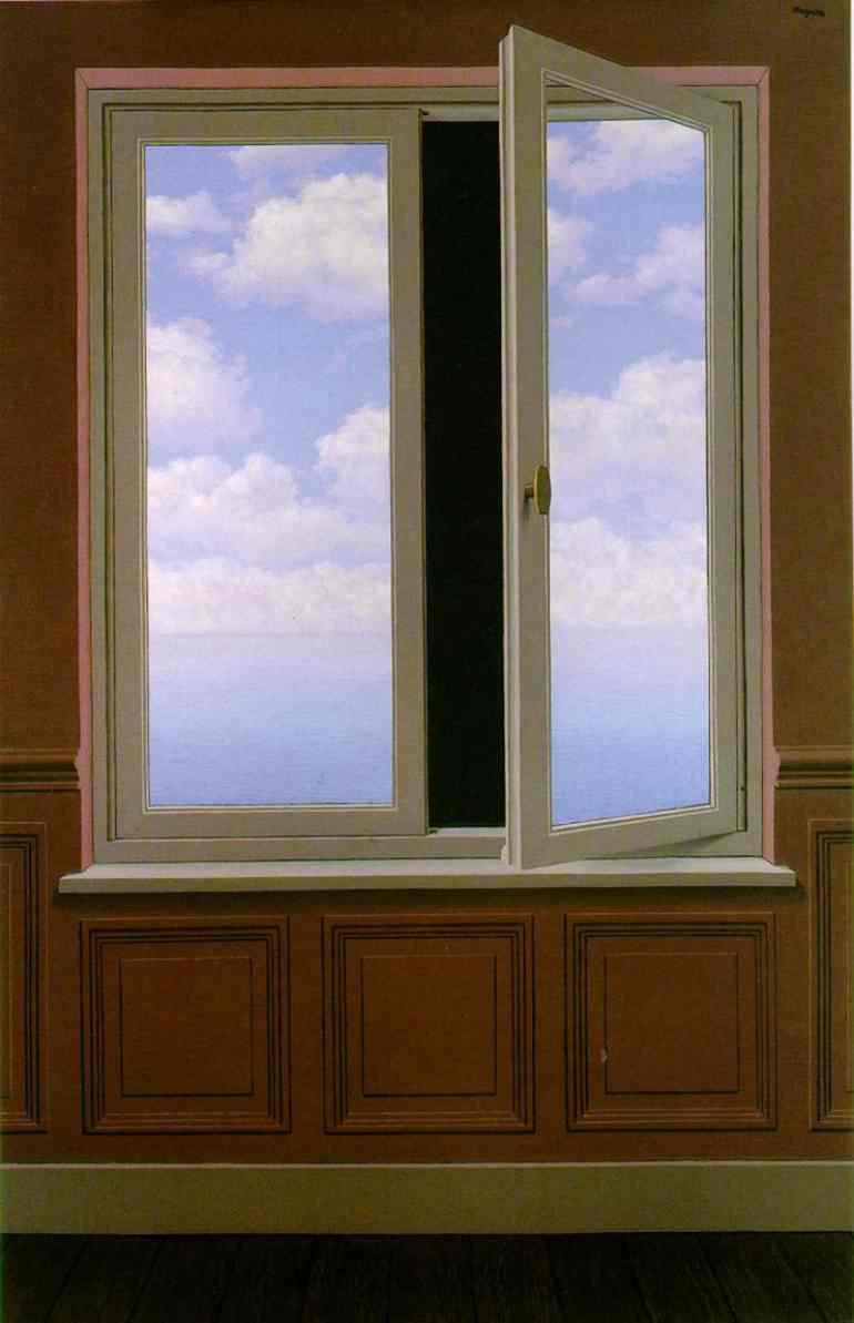 O Telescópio - René Magritte - 1963